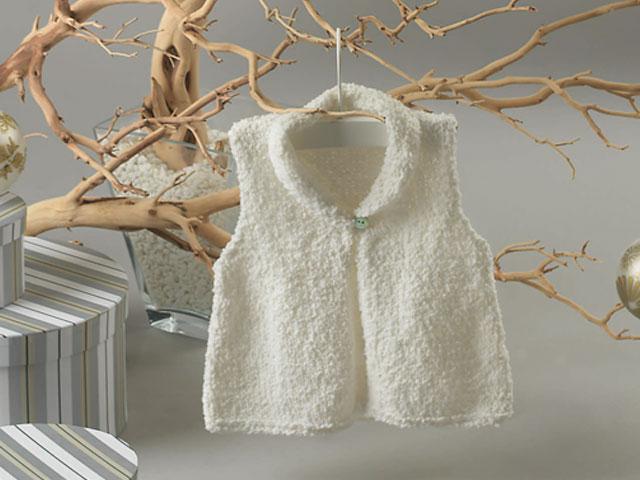modèle tricot gilet layette #8
