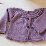 modèle tricot gilet layette #9