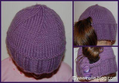 modèle tricot gratuit bonnet #8