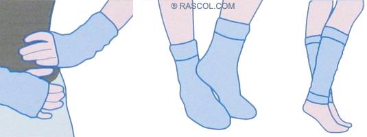 Comment tricoter des chaussettes adulte - Tricotin rond comment terminer ...