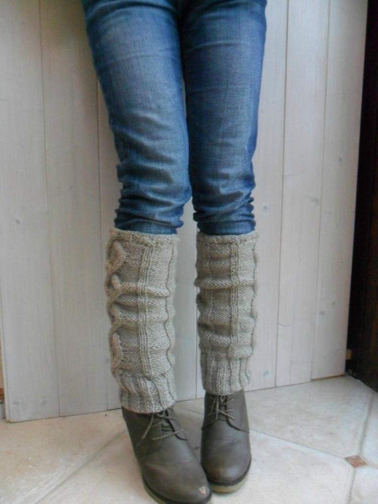 guetre tricot femme