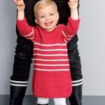 modèle tricot jersey robe bébé #12