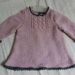 modèle tricot jersey robe bébé #15