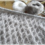 modèle tricot nid d abeille au #12