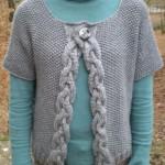 modèle tricot point de riz pull #13