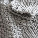 modèle tricot point de riz pull