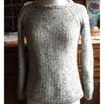 modèle tricot point de riz pull #16