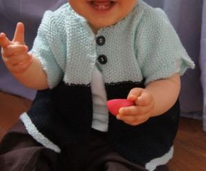 modèle tricot point de riz pull #18
