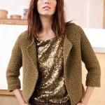 modèle tricot point de riz pull #3