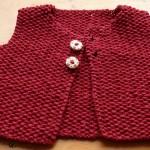 modèle tricot point de riz pull #7