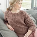 modèle tricot point de riz pull #8