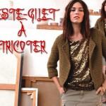 modèle tricot point de riz pull #9