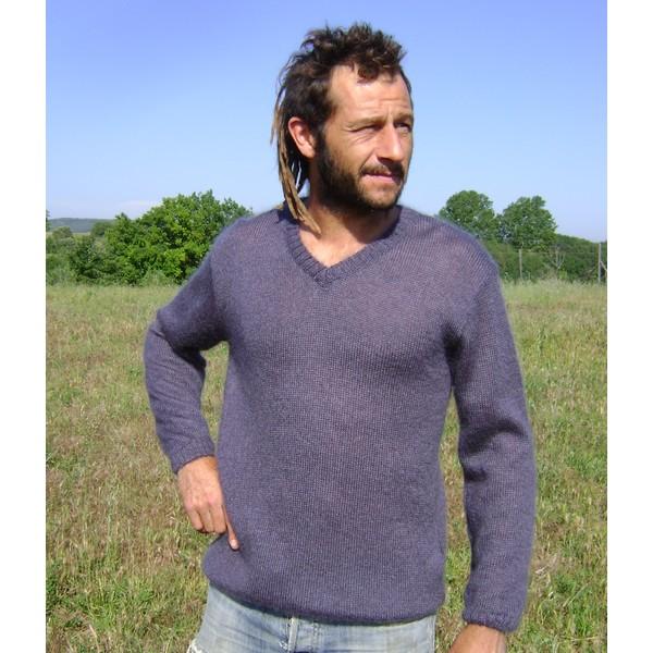 modèle tricot pull col v #11
