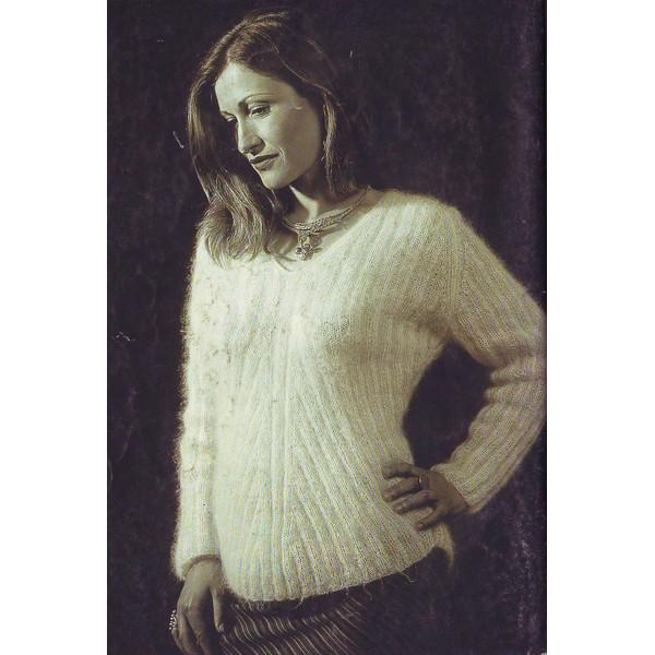 modele tricot pull encolure v