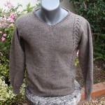 modèle tricot pull col v #16