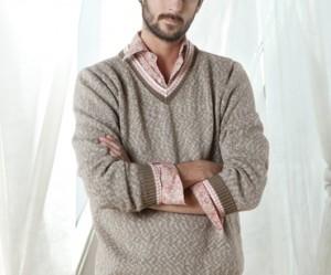 modèle tricot pull col v #18
