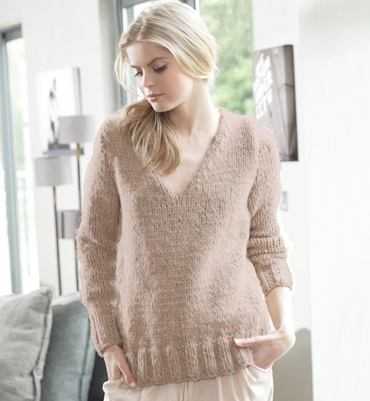 modèle tricot pull col v #3