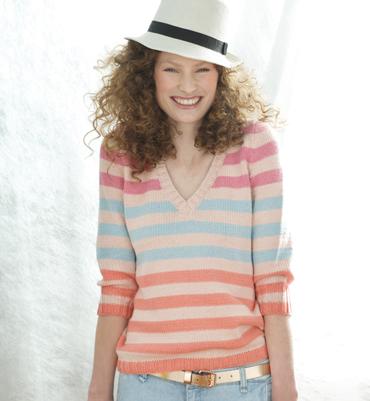 modèle tricot pull col v #5