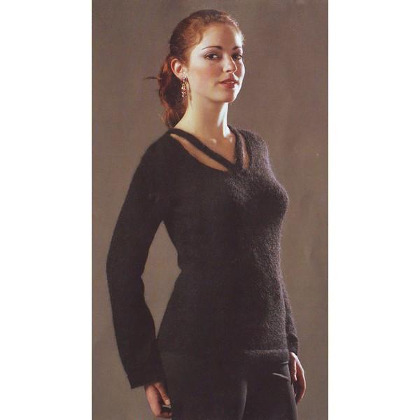 modèle tricot pull col v #6