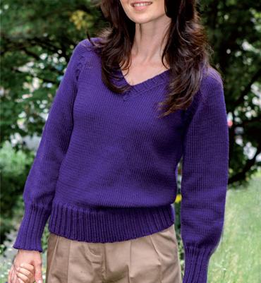 modèle tricot pull col v #7