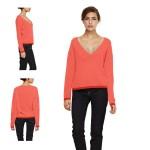 modèle tricot pull col v #8