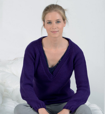 modèle tricot pull col v #9