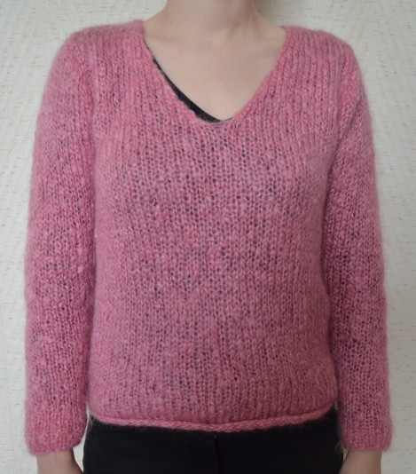modèle tricot pull col v #1