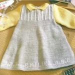 modèle tricot robe bébé #10