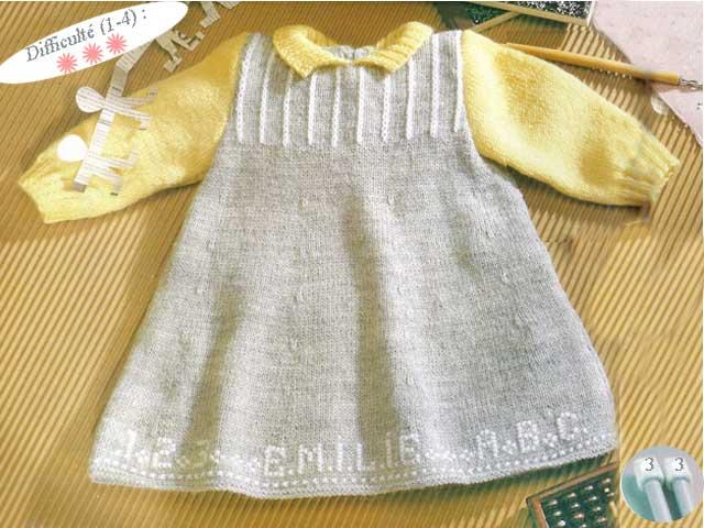 modèle tricot robe bb