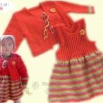 modèle tricot robe bébé #16