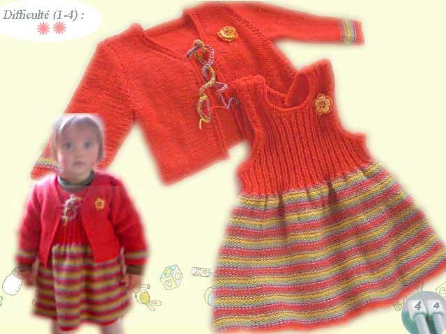 94dc1cd5f1b4d robe bebe tricot facile