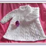 modèle tricot robe bébé #18
