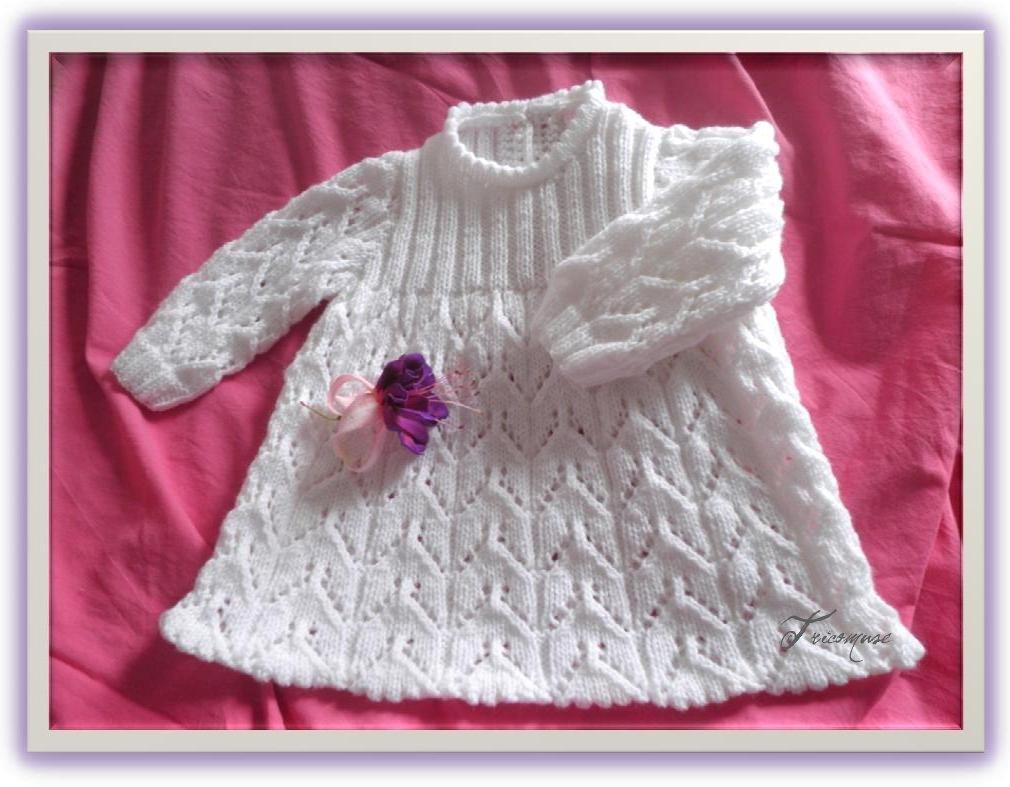 modele tricot robe pour bebe gratuit