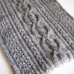 modèle tricot torsade lecon #10
