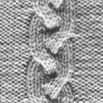 modèle tricot torsade nattée double #10