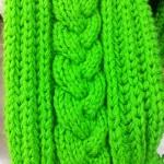 modèle tricot torsade nattée double #11
