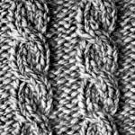 modèle tricot torsade nattée double #12