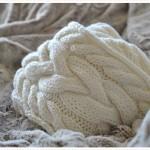 modèle tricot torsade nattée double #13