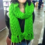 modèle tricot torsade nattée double #14