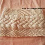 modèle tricot torsade nattée double #1
