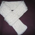 modèle tricot torsade nattée double #17