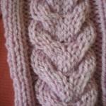 modèle tricot torsade nattée double #2