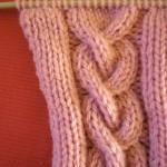 modèle tricot torsade nattée double #3