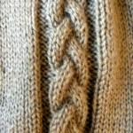 modèle tricot torsade nattée double #4