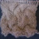 modèle tricot torsade nattée double #6