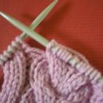 modèle tricot torsade nattée double #9