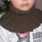modèle tricot tour de cou bébé #10