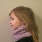 modèle tricot tour de cou bébé #1