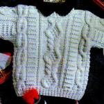 modele gratuit pull irlandais bebe #12