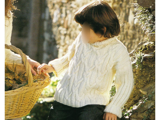 modele gratuit pull irlandais bebe #3